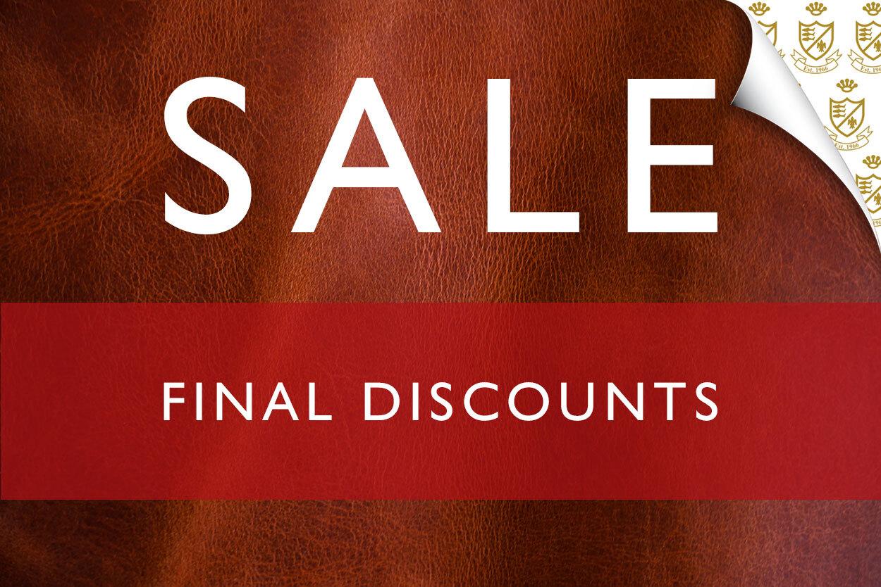 Sale Continues - Final Discounts