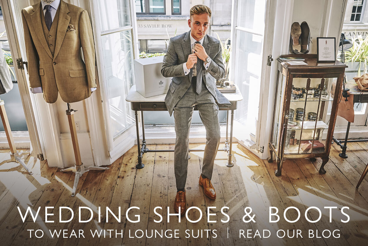 On Our Blog: Shoes and boots to wear with lounge suits at weddings