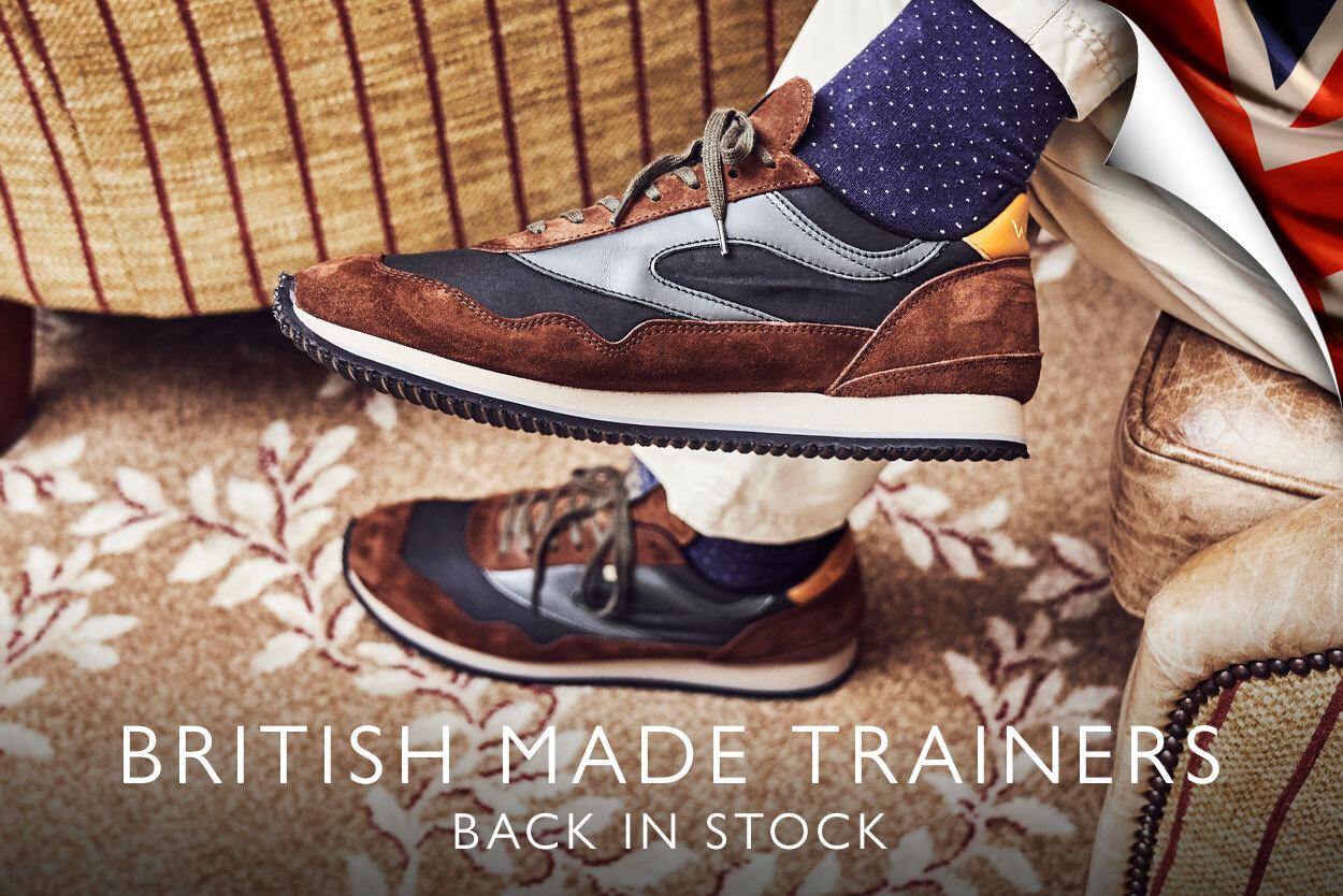 Our new range of trainers made in the UK by Walsh