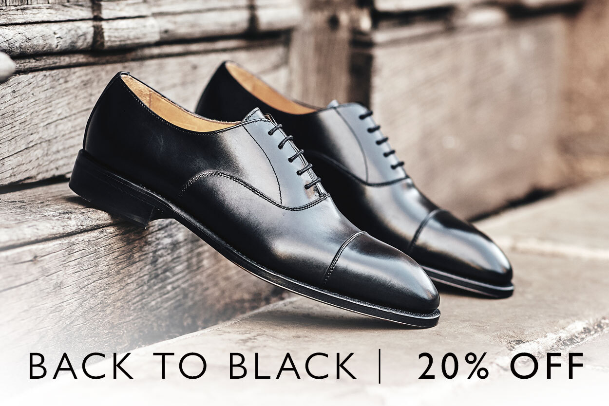 20% off full price black shoes until the 19th of April
