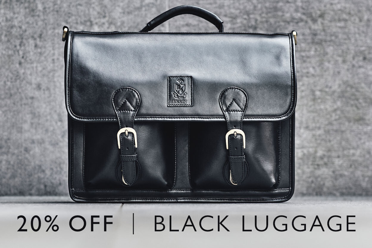 20% off full price black luggage until the 19th of April
