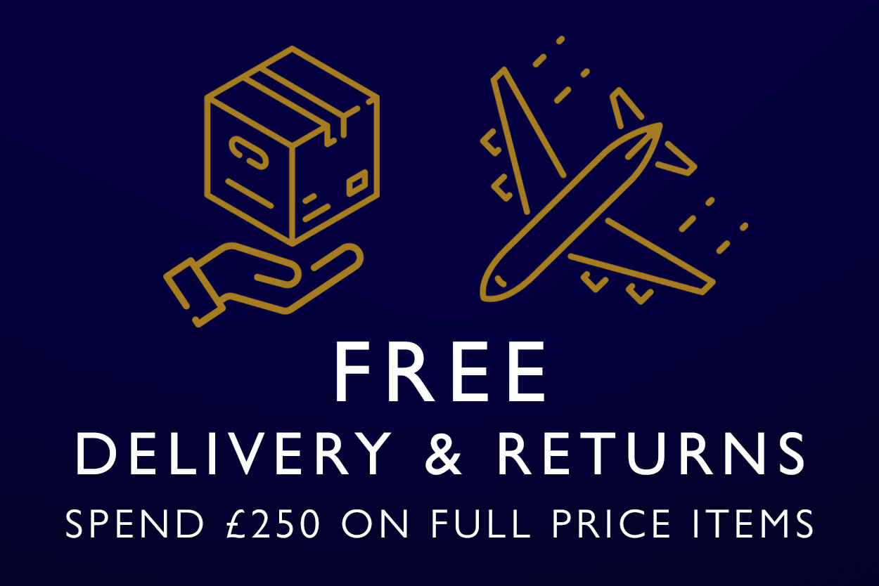 Free worldwide delivery when you spend over 250 GBP on full price items