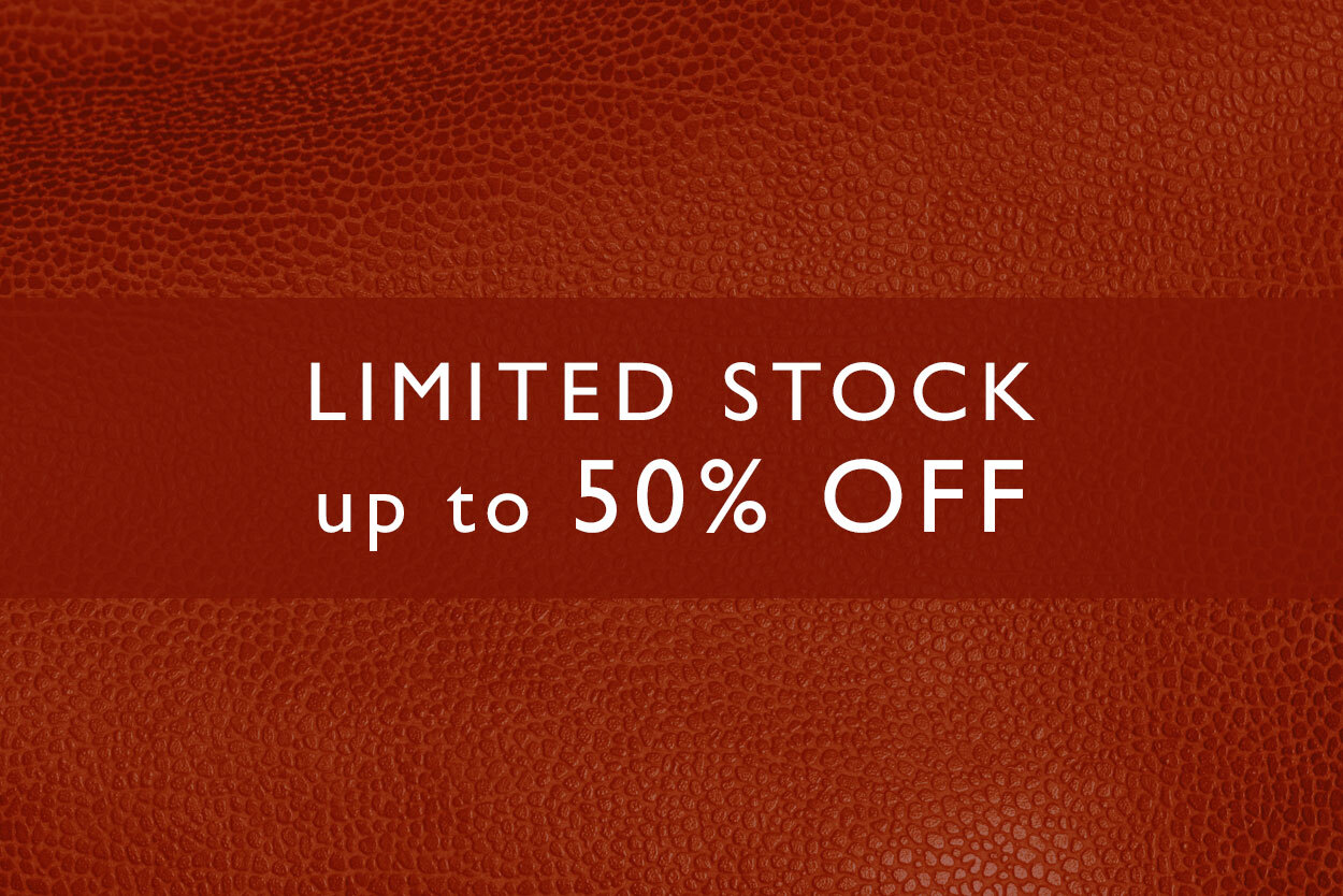 Limited stocks of slight seconds at 50% off