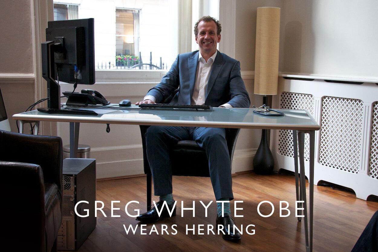 Greg Whyte OBE wears Herring