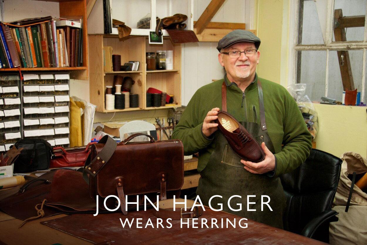 John Hagger wears Herring
