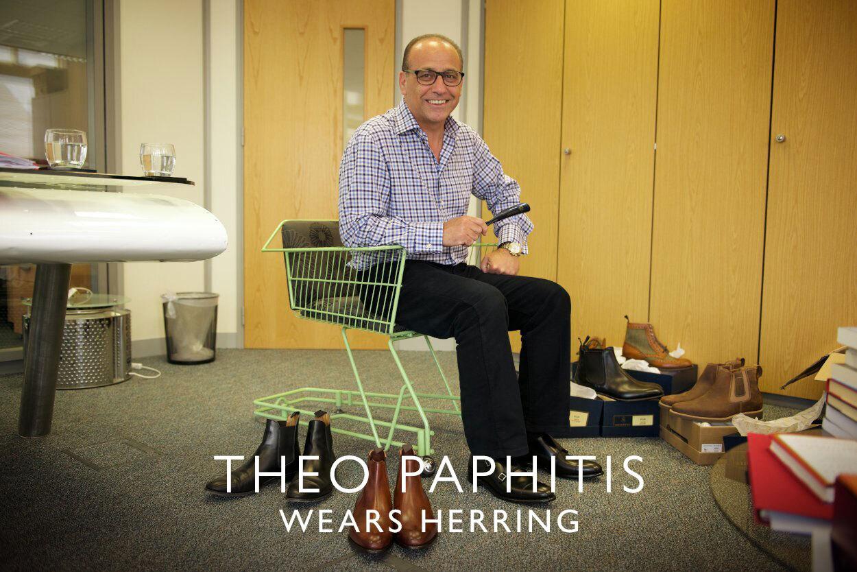 Theo Paphitis wears Herring