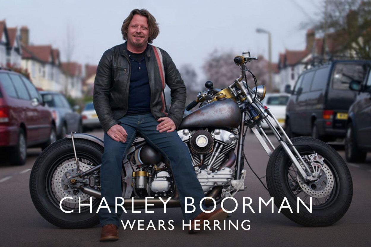 Charley Boorman wears Herring