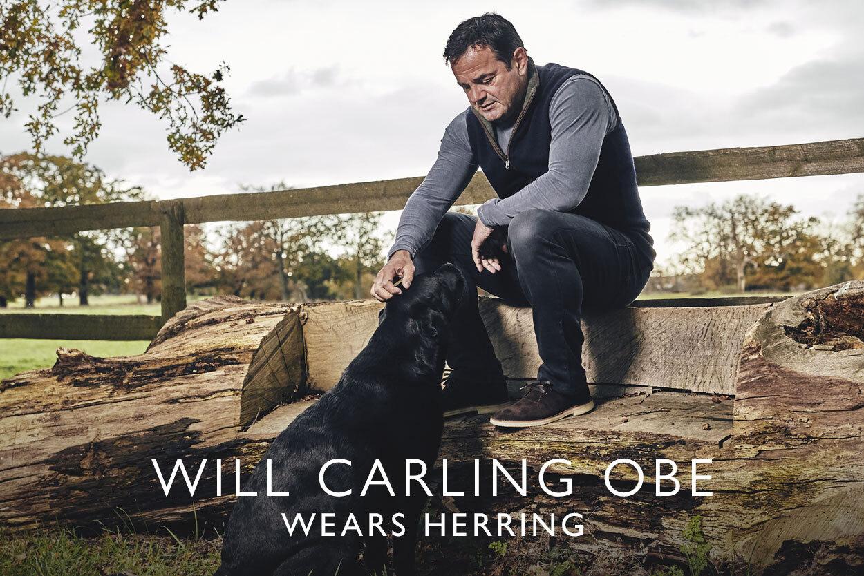 Will Carling OBE wears Herring