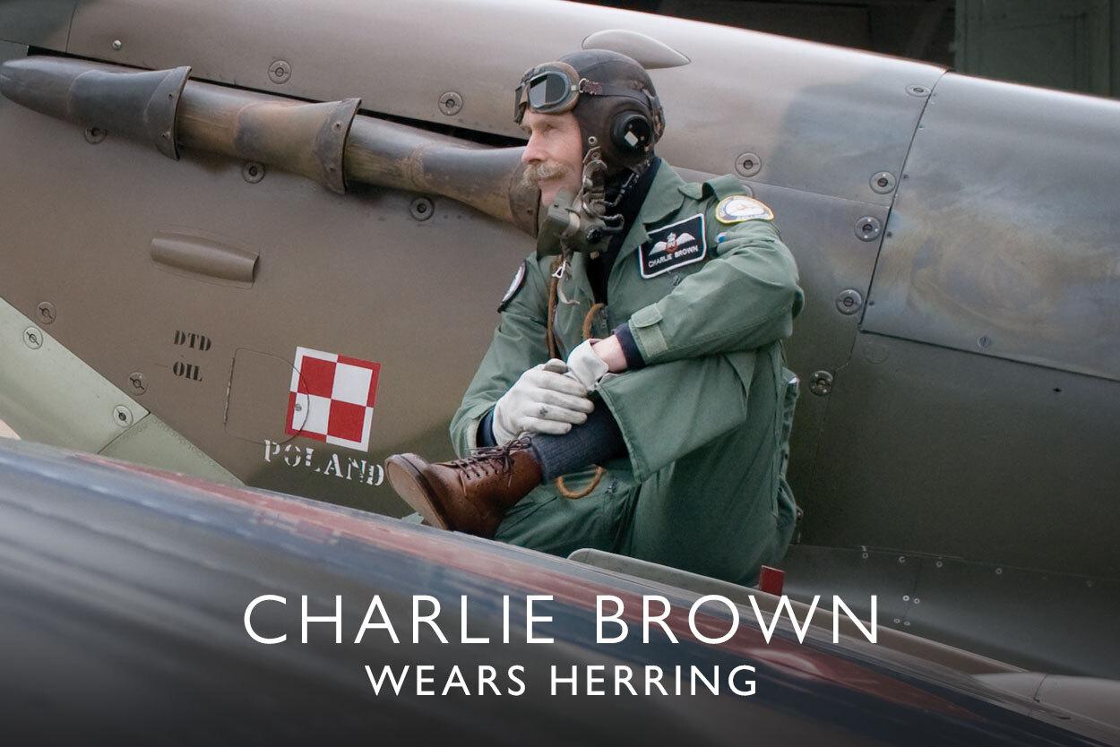 Charlie Brown wears Herring