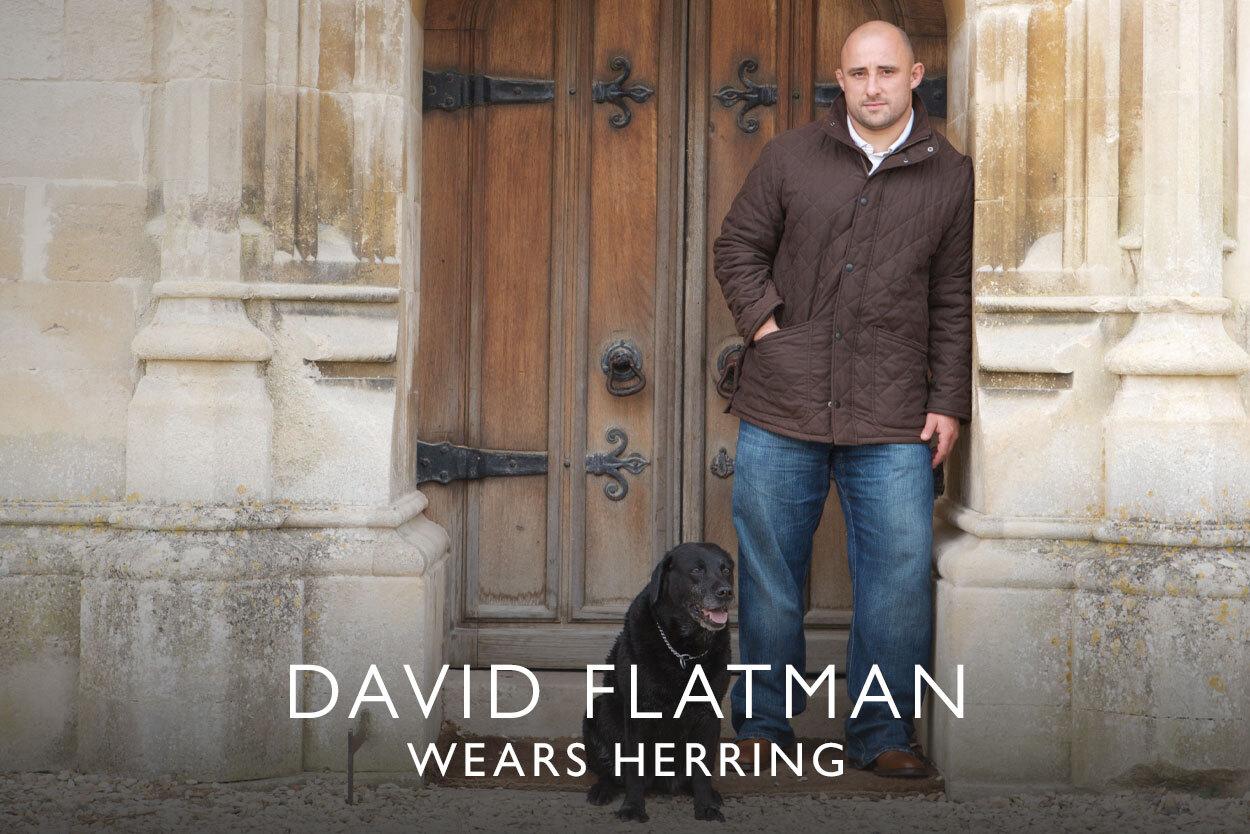 David Flatman wears Herring