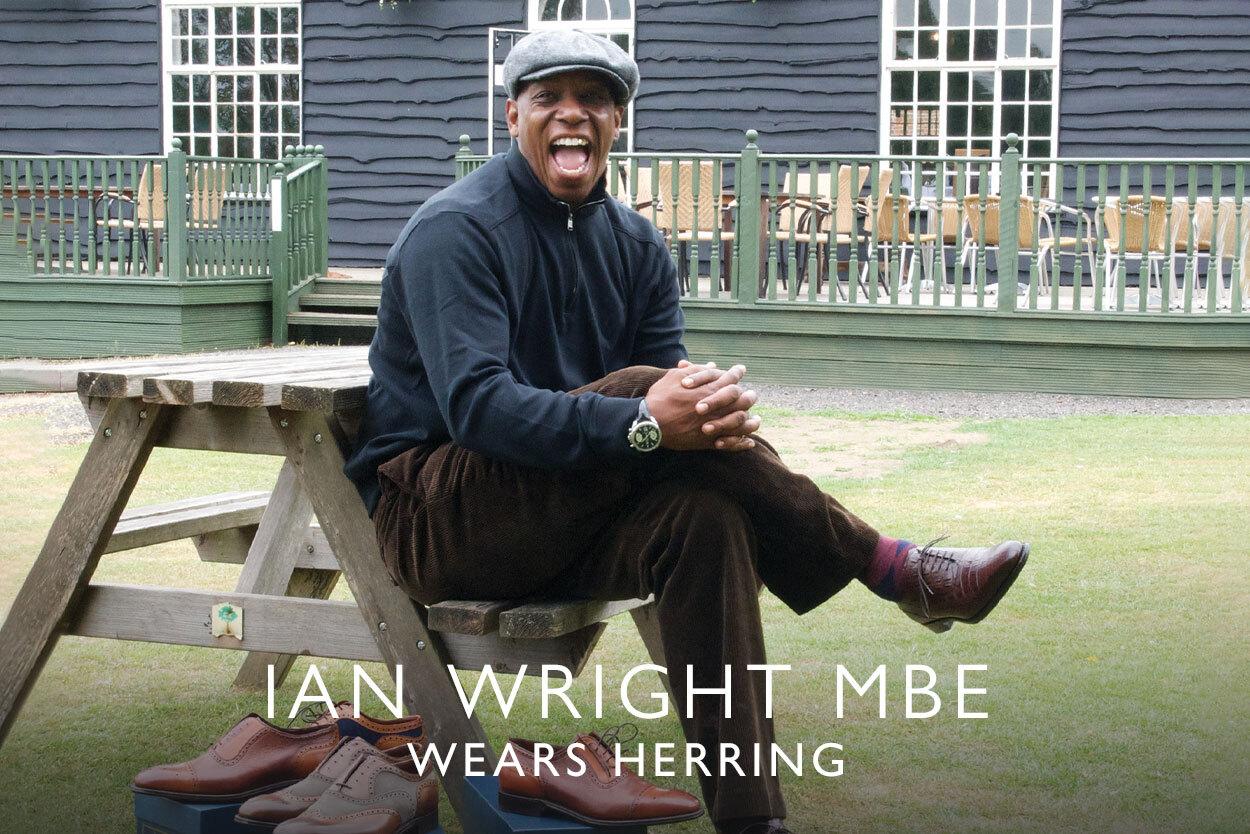 Ian Wright MBE wears Herring