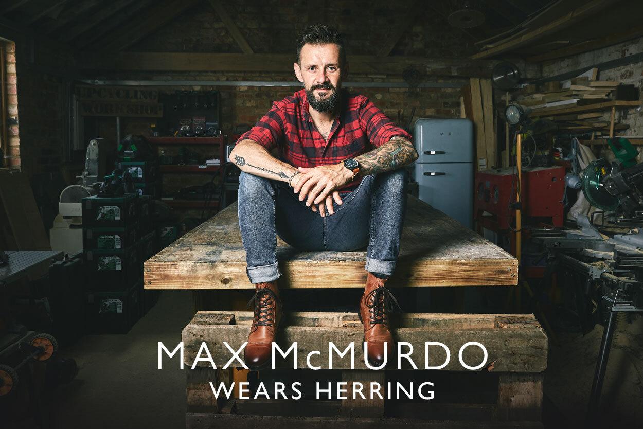 Max McMurdo wears Herring
