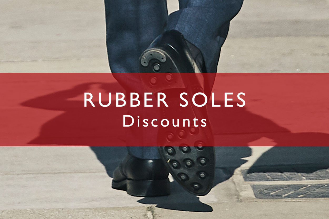 Rubber-Soled Sale Shoes - beat the rain and spare your wallet